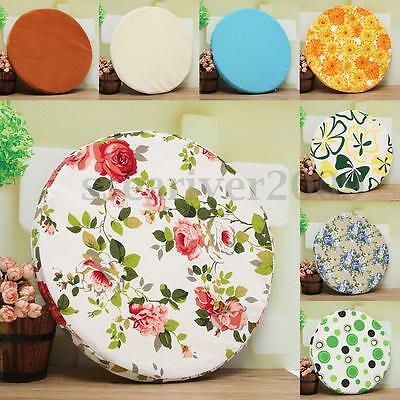 Round Soft  Offic Sofa Chair Seat Pad Cushion Kitchen Dining Removable Cover