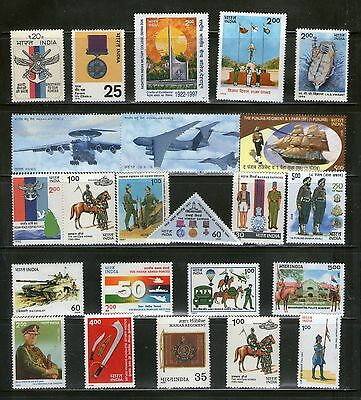 India : 40 Diff. Indian Forces (Army/navy/air Force), Rare, Commemo., Mnh