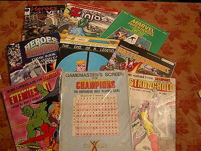 Large Collection of Hero Games/Champions RPG Marvel Superheroes Role Play Game