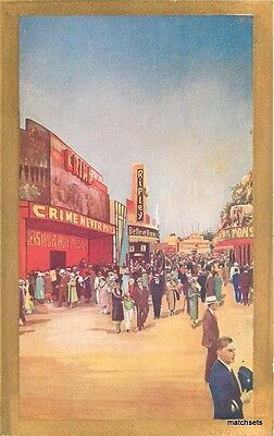 1935 Amusement San Diego California Midway Exposition postcard 12895