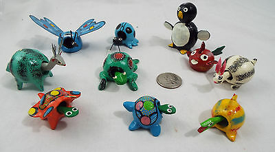 Lot of 10 Assorted Bobble Head Animals Various Colors Butterfly Penguin Fish