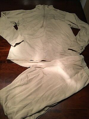 Gen 3 ECWCS Midweight Cold Weather Shirt & Drawers Polartec L2 Large Long #dvy4