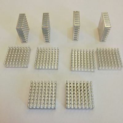 US Stock 10pcs 28mm x 28mm x 8mm Aluminum Heatsink For IC MOSFET SCR CP LED AH01
