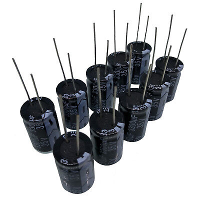 US Stock 10pcs Electrolytic Capacitors 3300uF 35V +105℃ Radial 16 x 26mm