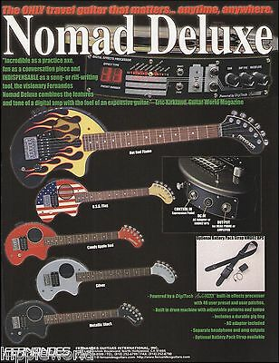 Fernandes Nomad Deluxe Series USA Hot Rod Flame guitar ad 8 x 11 advertisement