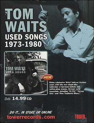 Tom Waits 2001 Used Songs album ad 8 x 11 advertisement print