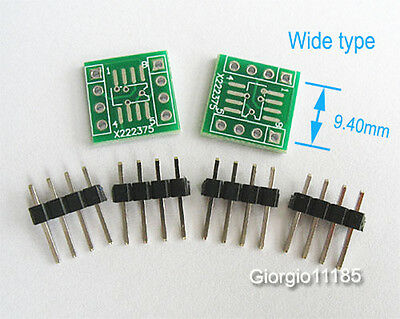 US Stock 20x SOP8 SOIC8 1.27mm To DIP8 Adapter SMD Convertor 2.54mm Header Strip