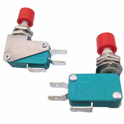 2x AC 125V/250V 16A SPDT NO NC Momentary Red Cap Push Button Micro Switch DS438
