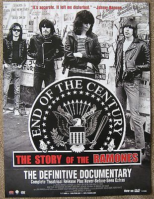 RAMONES 2005 POSTER End Of The Century Story Of the Ramones Documentary