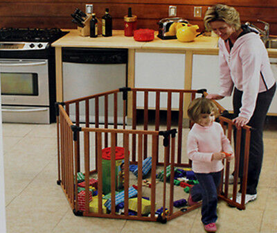 Baby Playpen Puppypen Foldable Room Divider Foldable Solid Birch Wood