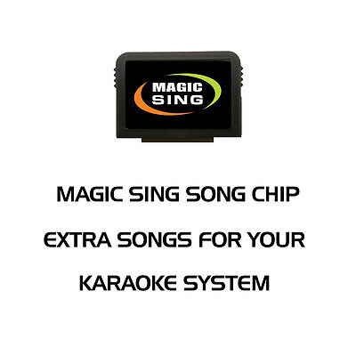 Dance / Club / Disco / Rap Karaoke - Magic Sing Song Chip - 136 Songs