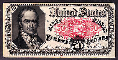 US 50c Fractional Currency 5th Issue POS G 24 FR 1381 VF-XF