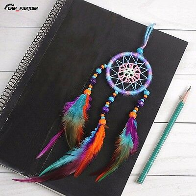 Handmade Dream Catcher Net With feathers Hanging Decoration Decor Craft Gift
