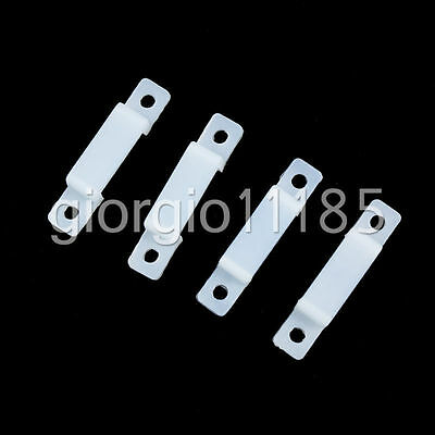 US Stock 50 Silicone Fasterner Clips For LED Strip Light 8mm 10mm 3528 5050 5630