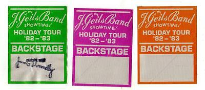 Lot of 3 J. GEILS BAND Showtime! Holiday Tour 82-83 SATIN BACKSTAGE PASSES