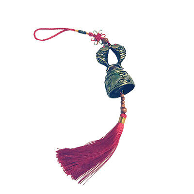 Fish Pattern Wind Chime Hanging Bell Chinese Knot Feng Shui Decor 20cm Gift