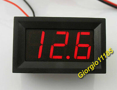 US Stock Mini Red LED Panel Volt Meter DC 30~70V For 48V Power Supply