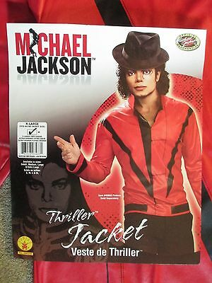Micheal Jackson Red Jacket Zippered Halloween Deluxe Costume Adult XL  NEW