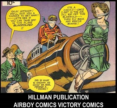 HILLMAN AIRBOY COMIC HARRY CHESLER PUNCH YANKEE COMIC Golden Age DVD Book Lot 13