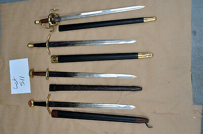 Lot 511 - Knight and Noble swords Full Tang Tempered Carbon Steel