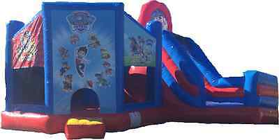 Paw Patroll Jumping Castle Slide  Hire Only Melbourne Children Party  Hire