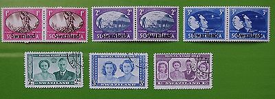 SWAZILAND - 1947 Collection of Used & MH Stamps