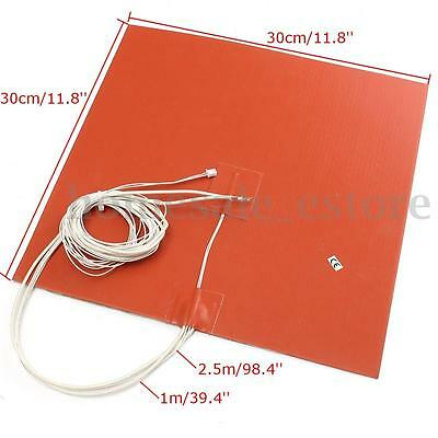 30X30CM 750W @ 220V Silicone Heater 3D Printer Heated Bed Pad 30cm Thermistor