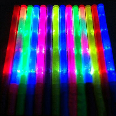 LED Glow Stir Stick Light Shining Party Glow in the Dark Glowsticks 5 Colors