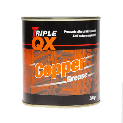 Copper Grease 500g Anti Seize Compound Prevents Disc Brake Squeal - Triple QX