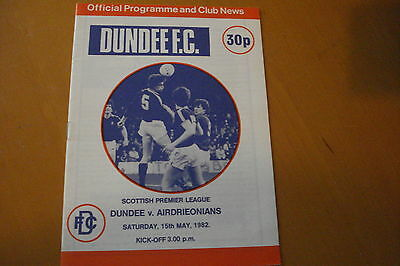 Dundee V Airdrionians (Airdrie)                                          15/5/82