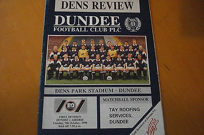 Dundee V Airdrionians (Airdrie)                                          9/10/90