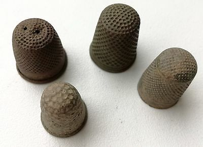Very old antique thimbles. Lot of 4