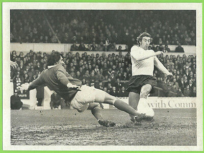 Press Photo 20/1 1973 Tottenham Hotspur v Ipswich David Best Martin Chivers