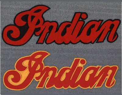 Indian motorcycle 11 inch red/black embroidered back patch.A BEAUTY.NEW