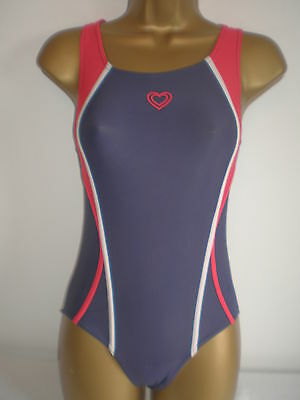 Girls Tu Navy Red And White Racerback Swimsuit Age 10 Years