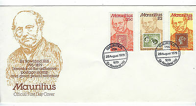 Timbre Mauritius/ile Maurice Enveloppe 1Er Jour First Day Cover 1980 Rowland Hil