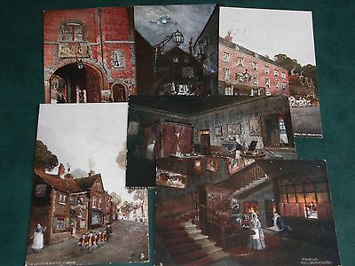SET OF SIX TUCK POSTCARDS - IN DICKENS LAND - OILETTE No. 1164.