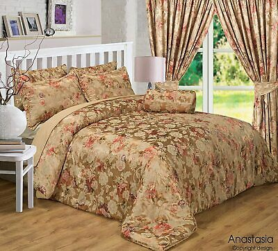 Vintage Luxury Anastasia Gold Woven Jacquard Duvet Set Or Bedspread Or Curtains