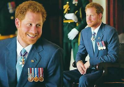 Postcard of Prince Harry of Wales - 2 scenes