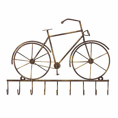 Vintage Bike Bicycle Key Holder Storage Hooks Wall Mounted Rack Metal Hanger