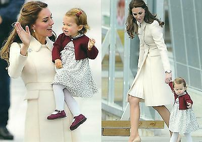 2 Postcards of Catherine, Duchess of Cambridge, & Princess Charlotte