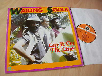LP THE WAILING SOULS - LAY IT ON THE LINE / 1986 uk-LIVE&LEARN ROOTS-ROCK-REGGAE