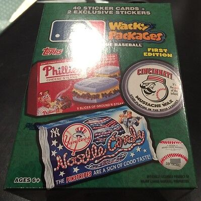 2016 Topps Wacky Packages MLB FIRST Edition **Factory Sealed Blaster Value Box**