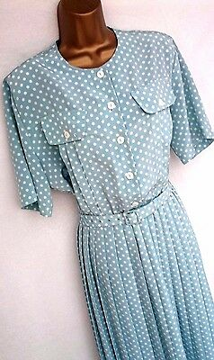 VINTAGE 80's EASTEX POLKA DOT TEA DRESS SIZE 14/16