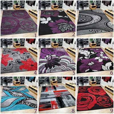 New Soft Touch Modern Contemporary Extra Large Quality Designer Home Floor Rugs