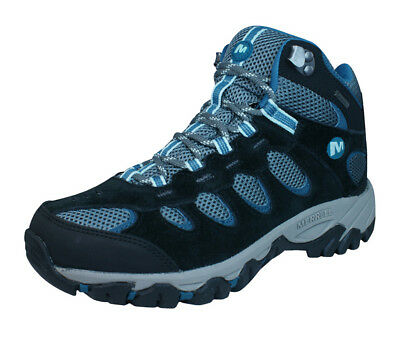 Merrell Ridgepass Mid Gore-Tex Womens Walking / Hiking Boots / Trainers - Blue