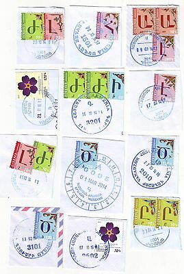 2010-2016 Cut of Cover Armenian Town City Cancels 12 Different Nice Lot Armenia
