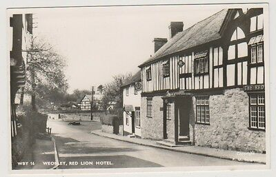 Herefordshire postcard - Weobley, Red Lion Hotel - RP