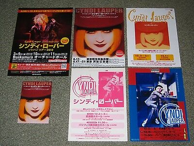 CYNDI LAUPER Japan PROMO handbills & postcard x 6 set MINI POSTER flyer OFFICIAL