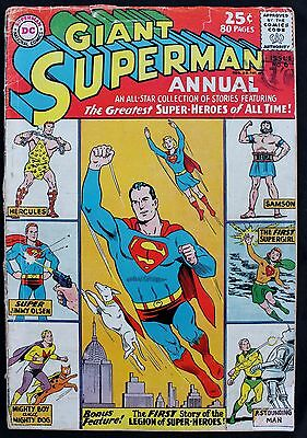 Superman Annual 6 an 80 Page Giant a 'gd/vgd 1962 early silver age DC Comic